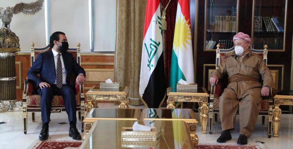Al-Halbousi and Barzani review political developments