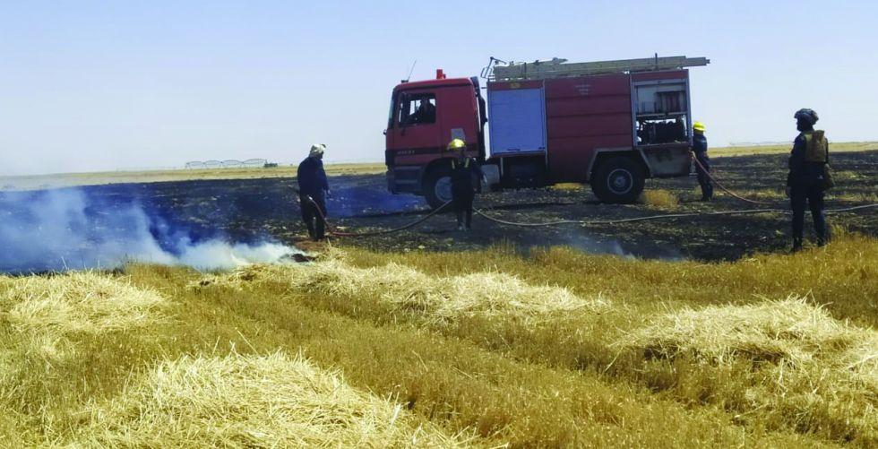 محاصيل العراق الستراتيجية عرضة لخطر النيران