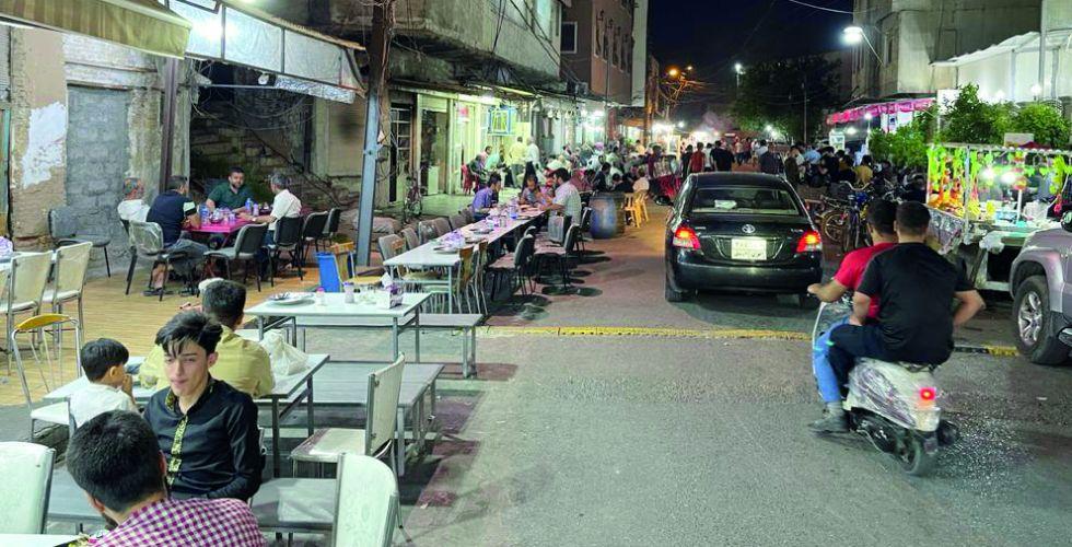 شارع التعجيل يتأنق في ليالي الشهر الفضيل