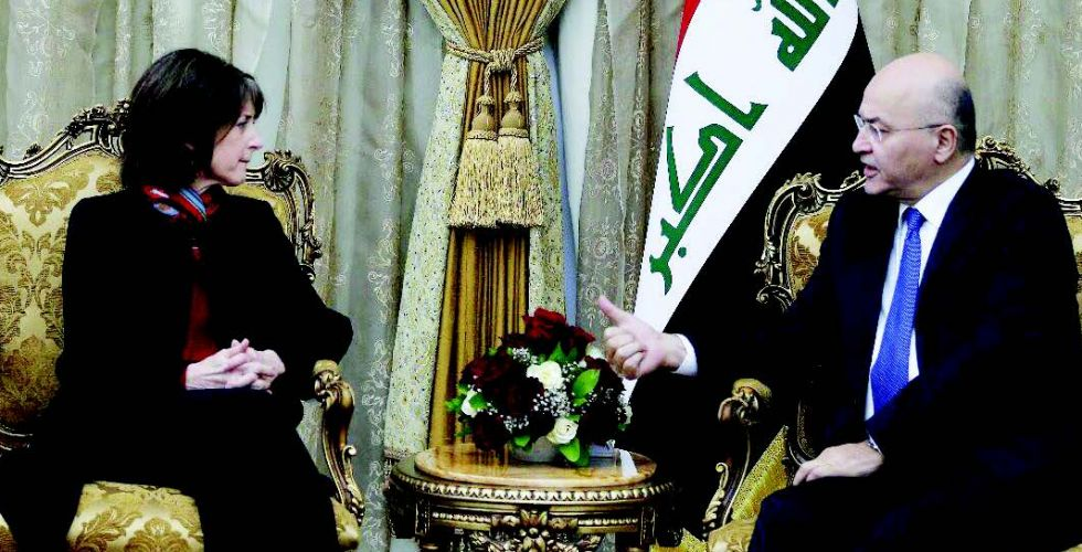Saleh confirms Iraq's determination to strengthen relations with America Alsabaah-7751