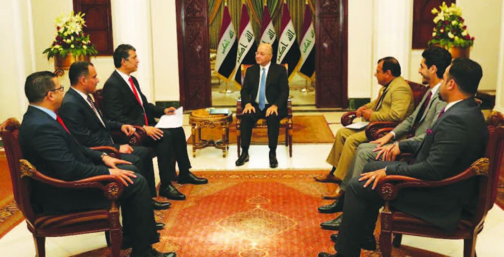 {Euphrates News} publishes the full text of the comprehensive press interview with the President of the Republic Alsabaah-7755