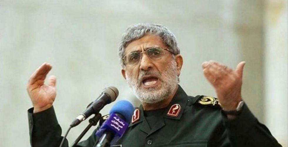 قاآني يدعو الفلسطينيين للاستعداد لتسلم إدارة بلادهم