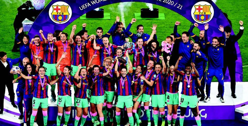 سيدات برشلونة أول فريق إسباني يحرز لقب أوروبا