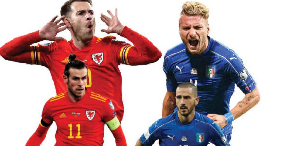 منتخب إيطاليا يصطدم بطموحات بيل ورامسي