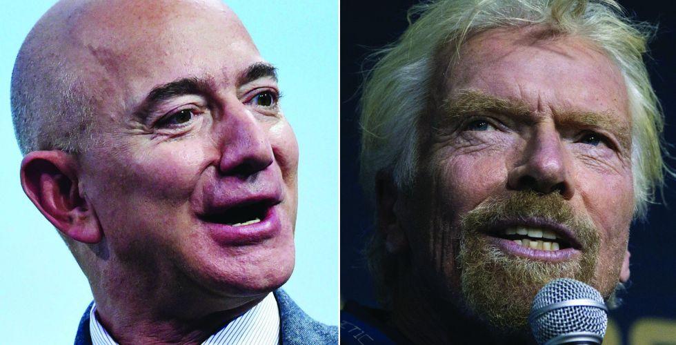سباق الفضاء يحتدم بين المليارديرين بيزوس وبرانسون