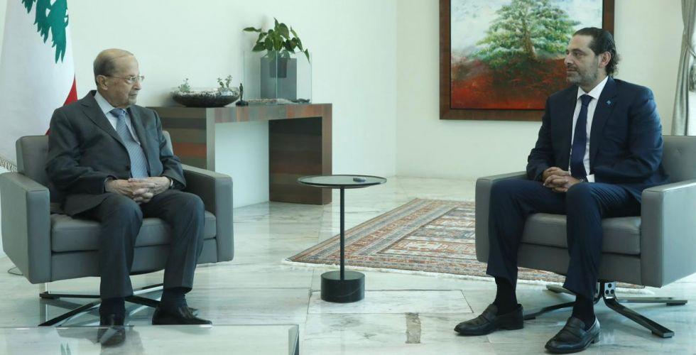 الحريري يقدِّم تشكيلة وزاريَّة للرئيس عون