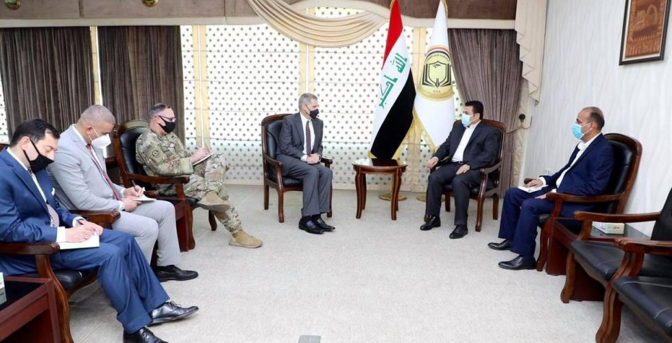 Al-Araji and Tueller discuss ending the presence of combat force in Iraq