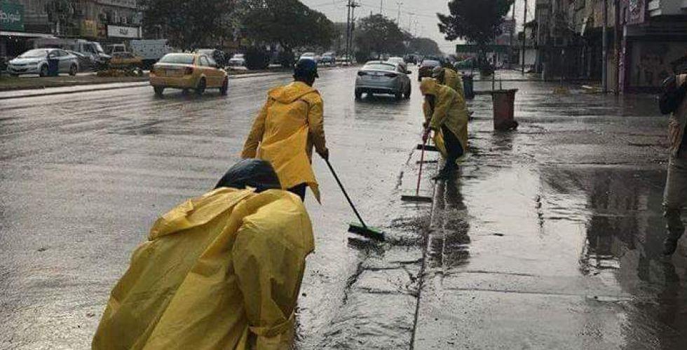 امانة بغداد : استنفار خدمي لاستيعاب مياه الأمطار