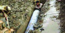 إنجاز خط ناقل للماء في قضاء الجدول الغربي بكربلاء