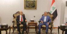 العامري يستقبل مستشار الرئيس الفلسطيني للشؤون الخارجية