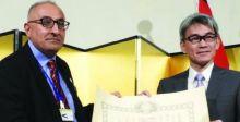 اليابان تقلد محمود القيسي وسام الامبراطورية