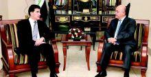 صالح يبحث مع بارزاني المستجدات السياسية