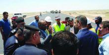 افتتاح مقطع من الطريق الدولي السريع بين الناصرية والسماوة