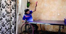 فتاة عراقيَّة معاقة تتفوقُ بكرة الطاولة