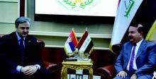 وزير الداخلية يستقبل السفير الصربي  لدى العراق