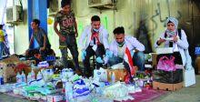 مبادرات إنسانية في ساحة التحرير