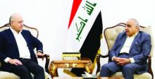 صالح وعبد المهدي يبحثان التعاون بين السلطات الثلاث