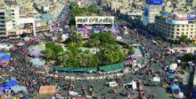 ساحة التحرير ..  شفناها مثل الشذر .. سلميّة ترس العين