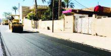 إعادة تأهيل شوارع الرمادي  وكورنيش الورار
