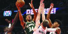 يانيس وجيمس يقودان ميلووكي وليكرز للفوز في الـ {NBA»