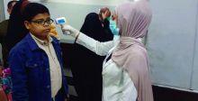 إجراء فحوصات للمراجعين ضد كورونا اثناء دخولهم المستشفى