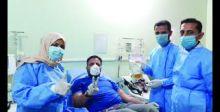 كربلاء: علاج مريض من كورونا  باستخدام بلازما الدم