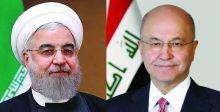 برهم صالح يبحث مع روحاني أمن  المنطقة والتعاون الاقليمي