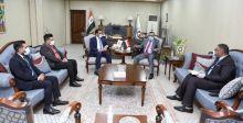 وزير الكهرباء يستقبل رئيس مجلس أمناء شبكة الإعلام العراقي