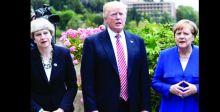 ترامب يشتم ميركل ويصف تيريزا ماي بالحمقاء