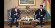 بارزاني يبحث مع جيفري تطورات الأوضاع في سوريا والعراق