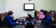 إعداد دورات الكترونية للهيئات التدريسية لدعم منصة نيوتن