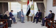 قاسم الأعرجي والسفير الأميركي يبحثان ملف مخيم الهول