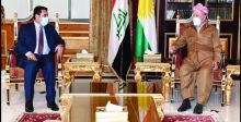 الأعرجي وبارزاني يناقشان تعزيز التنسيق الأمني