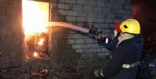 إخماد حريق في معمل  كربلاء للعصائر