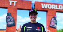 إسبانيَّة تفوز بسباق دراجات ناريَّة  بعد كسر ظهرها